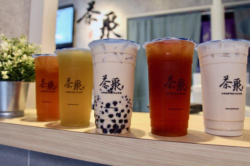 [台北]中山區飲料外送推薦 茶聚-長春店 好茶喝無糖黃金芯芽 超人氣半熟奶茶
