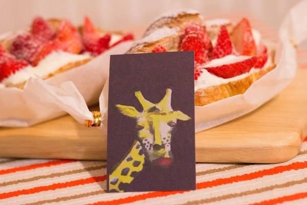 小鹿家:[台南]冬季限定。草莓可頌 網路人氣甜點 小鹿家